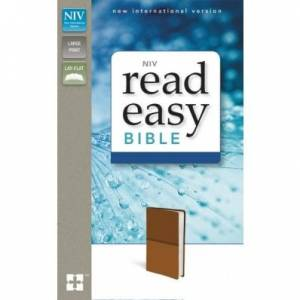 Niv, Readeasy Bible, Large Print, Imitation Leather, Tan, Red Letter Edition