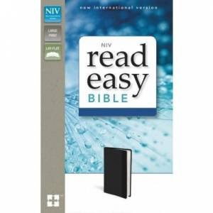 Niv, Readeasy Bible, Large Print, Imitation Leather, Black, Red Letter Edition