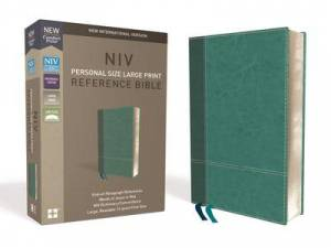 Niv, Personal Size Reference Bible, Large Print, Leathersoft, Teal, Red Letter Edition, Comfort Print