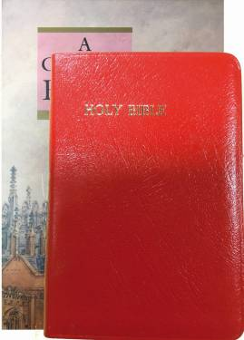 KJV Ruby Red French Morrocan Leather