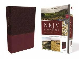 Nkjv Study Bible, Leathersoft, Red, Full-Color, Comfort Print