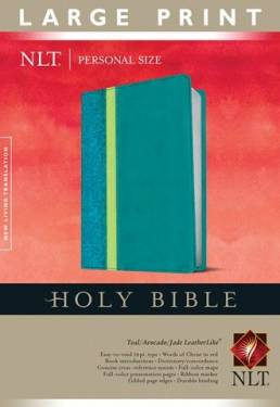 Holy Bible Nlt, Personal Size Large Print Edition Teal Avocado Jade Leatherlike