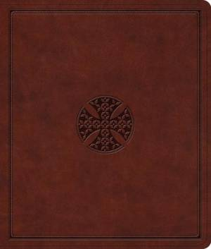 Esv Journaling Bible Brown Mosaic Cross
