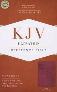 Kjv Ultrathin Reference Bible, Value Edition, Pink Leathertouch