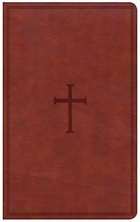 Csb Ultrathin Reference Bible Brown Leathersoft