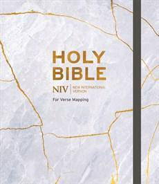 Niv Bible For Journalling And Verse-Mapping Marble Hb