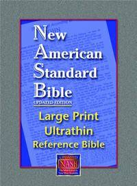 NASB Updated Edition Large Print Ultrathin Reference Black Calfskin