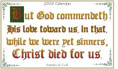 Gospel Wallet Calendar 2020 Text Design