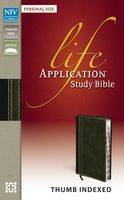 NIV Life Application Study Bible, Personal Size Indexed