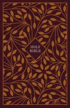 Kjv, Thinline Reference Bible, Cloth Over Board, Burgundy/Orange, Red Letter Edition, Comfort Print