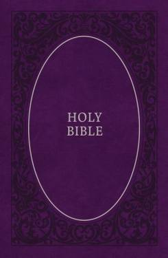 Kjv, Holy Bible, Soft Touch Edition, Leathersoft, Purple, Comfort Print