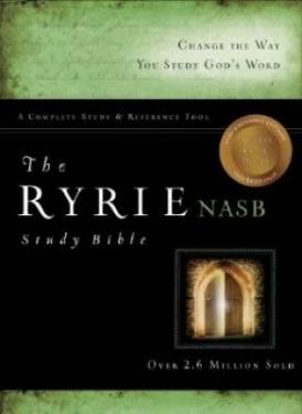 The Ryrie Nas Study Bible Genuine Leather Black Red Letter Indexed