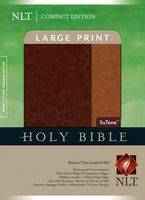 Nlt Compact Edition Large Print Brown Tan Tutone Indexed