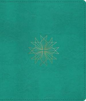Esv Journaling Bible Cross Teal Trutone