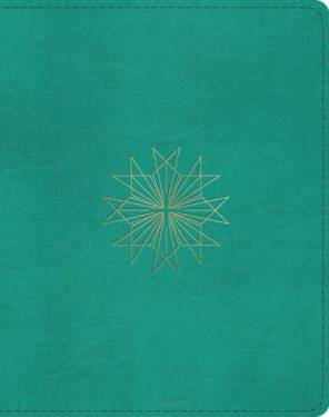 Esv Single Column Journaling Bible Cross Teal Trutone