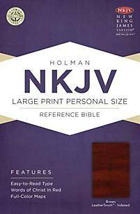 Nkjv Large Print Personal Size Reference Bible, Brown Leathertouch Indexed