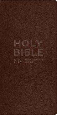 NIV 2011 Diary Brown Leather with Zip