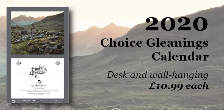 Choice Gleanings Calendar